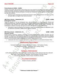 preschool teacher resumepreschool teacher resume sample