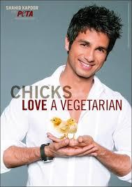 Shahid Kapoor, PETA Indiens Sexiest Vegetarian , Shahid Kapoor Vegetarian