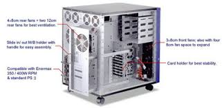 full tower computer cases   chassis   enclosure   mpe ft  beigempe ft inside diagram