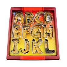 Large Size <b>26 English Letters Alphabet Cookie</b> Cutters Set Gift ...