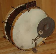 Image result for 1930 bass drum and cymbal on back