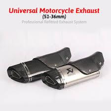 Inlet <b>51mm Motorcycle</b> Exhaust Pipe Akrapovic <b>Carbon Fiber</b> ...