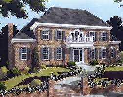 images about Colonial Home Plans on Pinterest   Colonial    This delightful two story Colonial home offers formal and informal spaces  The enchantment of