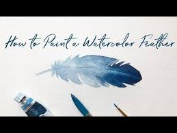 How to Paint a <b>Watercolor Feather</b> for Beginners | Easy <b>Watercolor</b> ...