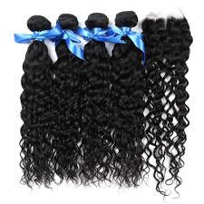 <b>Alisky</b> Malaysian <b>Water</b> Wave <b>Hair</b> 4 Bundles With Closure 100 ...
