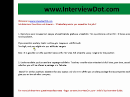 job interview questions and answers what salary would you expect job interview questions and answers what salary would you expect for this job best answer