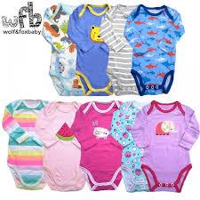 <b>5pieces</b>/<b>lot</b> long-Sleeved <b>Baby Infant</b> cartoon <b>bodysuits</b> for boys girls ...