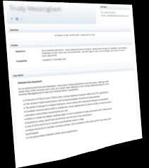 online c v hosting