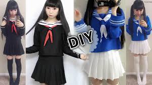 DIY <b>Japanese</b> Anime School Uniform: DIY Easy <b>Long Sleeve</b> ...