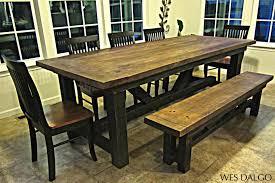 Rustic Wood Dining Room Table Custom Elegant Farmhouse Dining Table Custom Handmade Dining Room