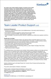 team leader product support m f kienbaum ag team leader product support m f