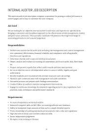 30 30 internal auditor job description internal auditors job description