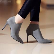 Ray Power <b>Women</b> Winter Sexy <b>Thin Heels</b> Pointed Toe Ankle Boots