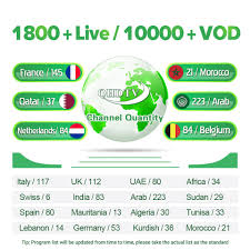 1 Year QHDTV <b>IPTV</b> Subscription X92 TV Box French <b>Arabic</b> ...