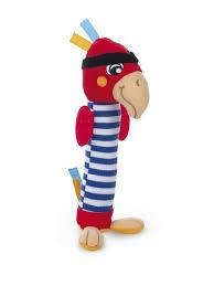 Игрушка мягкая с пищалкой, 0+ <b>Pirates</b>, форма: попугай <b>Canpol</b> ...