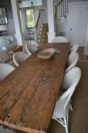 long wood dining table: i was thinking  skinny farmhouse tables this size put together to make one huge one but you can separate them to make a buffet or long table for