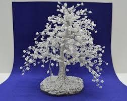 Flor de cerezo decoración casera <b>Bonsai</b> árboles Sakura abalorios ...