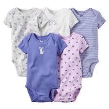 <b>5Pcs</b>/<b>Lot</b> Summer <b>Baby</b> Boy <b>Girl Bodysuits</b> Set Solid Short Sleeves ...