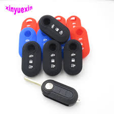 xinyuexin silicone rubber 3 button car key cover case for audi 2016 2017 2018 a4 b9 q7 4m tt 8s smart in black car styling