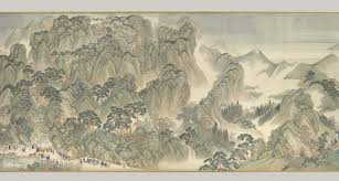landscape painting in chinese art essay heilbrunn timeline of the kangxi emperors southern inspection tour scroll three jinan to mount tai