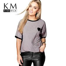 <b>Kissmilk 2018 Big Size</b> Fashion Women Clothing Casual Basic ...