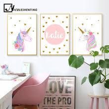 Nordic <b>Cartoon Unicorn Canvas</b> Poster Promotion-Shop for ...