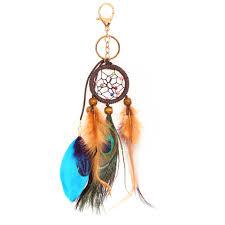 Classic Handmade <b>Keychain Dreamcatcher</b> Feathers Pendant <b>Key</b> ...