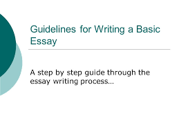 guidelines for writing a basic essay a step by step guide through    guidelines for writing a basic essay a step by step guide through the essay writing process