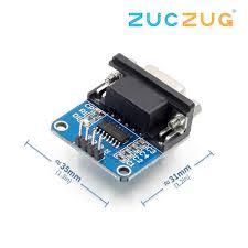 MAX3232 <b>RS232</b> to TTL <b>Serial</b> Port Converter <b>Module DB9</b> ...