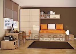 interior room design brown small kid  brown orange kids room