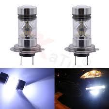 2pcs <b>100W</b> H7 LED Bulb 20 SMD Car Fog <b>Light</b> DC 12V~24V <b>360</b> ...