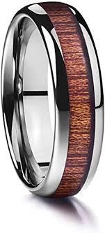 Moliston 6mm Wood Grain Tungsten Carbide Ring ... - Amazon.com