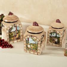 tuscan ceramic trivets tuscan view kitchen canister set beige set of three