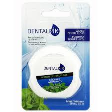 <b>Зубная нить</b> мятная <b>Floss</b> Mint Waxed вощеная 50 м <b>Dentalpik</b> ...