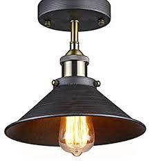 antique industrial edison semi flush ceiling lamp vintage mini pendant fixture industrial flush mount antique industrial lighting fixtures