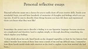 reflective essay example national 5 essay personal reflective essay example national 5