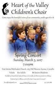 uncategorized heart of the valley children s choir spring poster