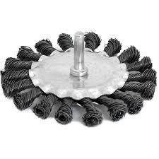 <b>Щетка для дрели плоская</b> (100 мм, крученая металлическая ...