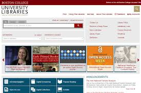 usable library of the month boston college usable libraries boston college library website detail