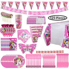 <b>Unicorn Party Supplies</b> Set with <b>Disposable</b> Tableware, Cake ...