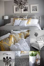 yellow and gray bedroom: gray yellow amp white love these colors together