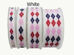 "3/8"" (<b>9mm</b>) Diamond Pattern Printed Grosgrain ribbon Spring Series ..."