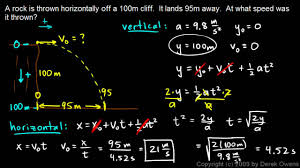 physics a projectile practice problem  physics 3 5 4a projectile practice problem 1