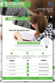 tutoring flyer psd ai vector eps format creative tutoring flyer template