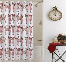 moose bear bathroom accessories bottoms country christmas shower curtain featuring kissing moose couples