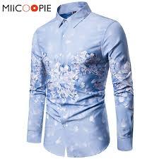 Vintage 3D <b>Print Floral Shirt</b> Men Long Sleeve Blouse Mens Shirts ...