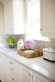 ideas gray quartz countertops pinterest traditional style decor and storage basket with pink hydrangea and qua