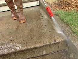 how to build a concrete patio step by step pressure wash concrete to get steps totally clean