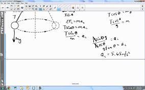 conical pendulum problem conical pendulum problem