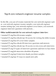 top8corenetworkengineerresumesamples 150516091025 lva1 app6892 thumbnail 4 jpg cb 1431767474